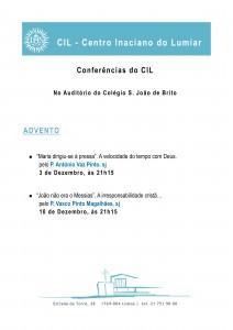 Folheto CIL 2013 14 - Advento CARTAZ
