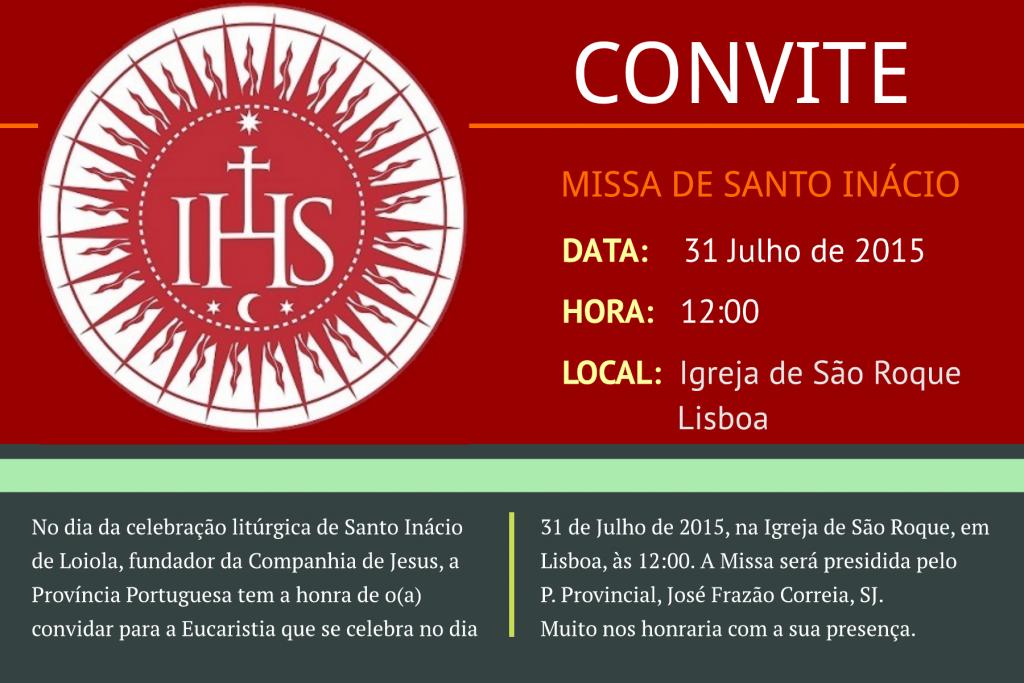 Convite Missa São Roque